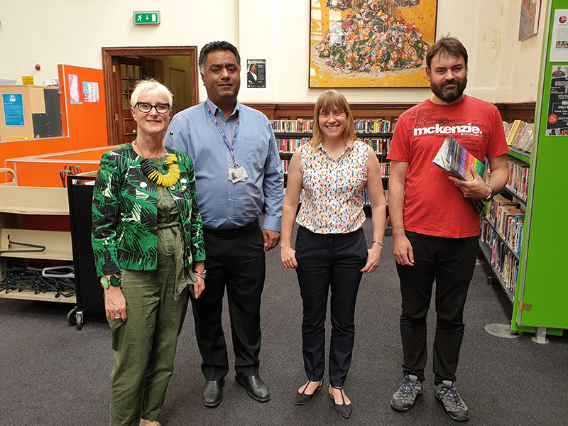 Penny Rutterford, Shahzad Asif, Sarah Armitage and Tim Reedy